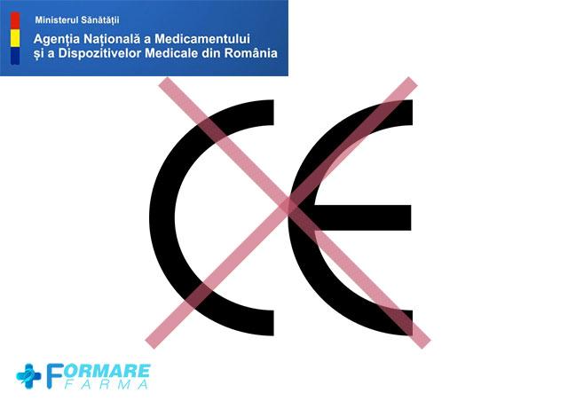 ANMDMR: Certificat de conformitate CE falsificat