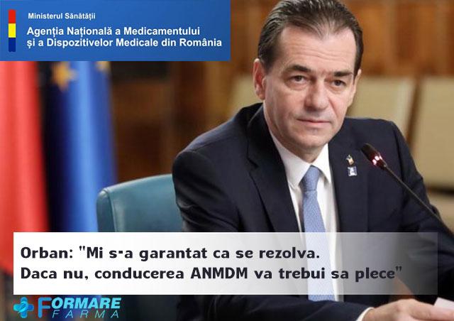 "Orban: ""Mi s-a garantat ca se rezolva. Daca nu, conducerea ANMDM va trebui sa plece"""