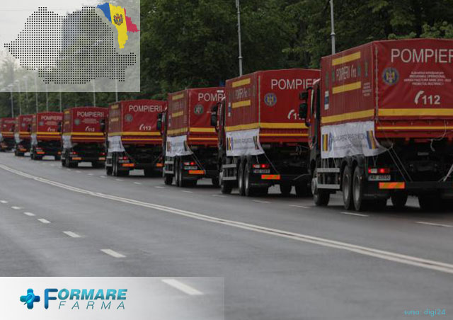 Misiune umanitara pentru Republica Moldova. Transport umanitar peste Prut